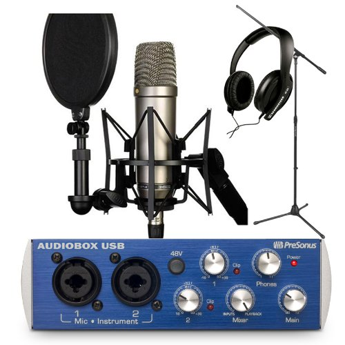 A complete portable studio setup: Rode NT1-A Cardioid Condenser Microphone Recording Package Review