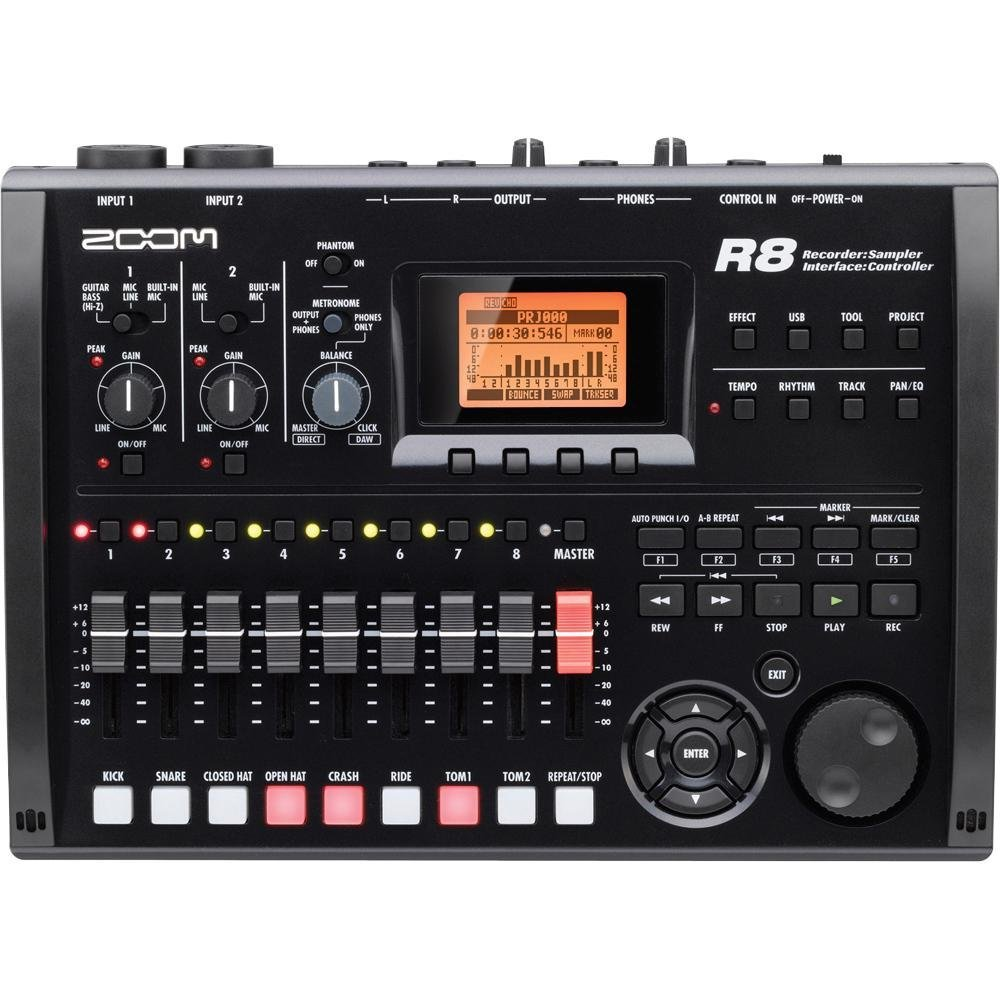 Zoom R8: A standalone multi track SD recorder for your home recording studio
