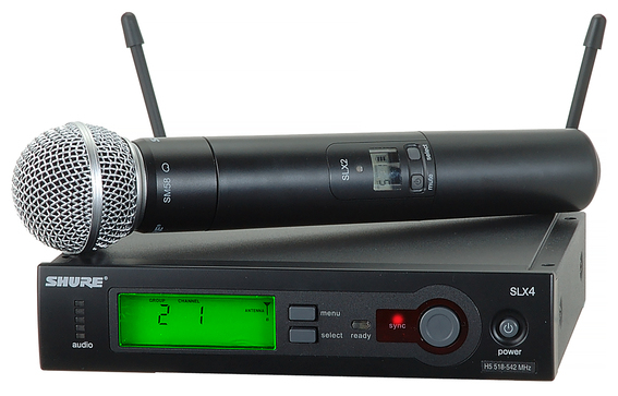 Shure SLX2 SM58 wireless microphone